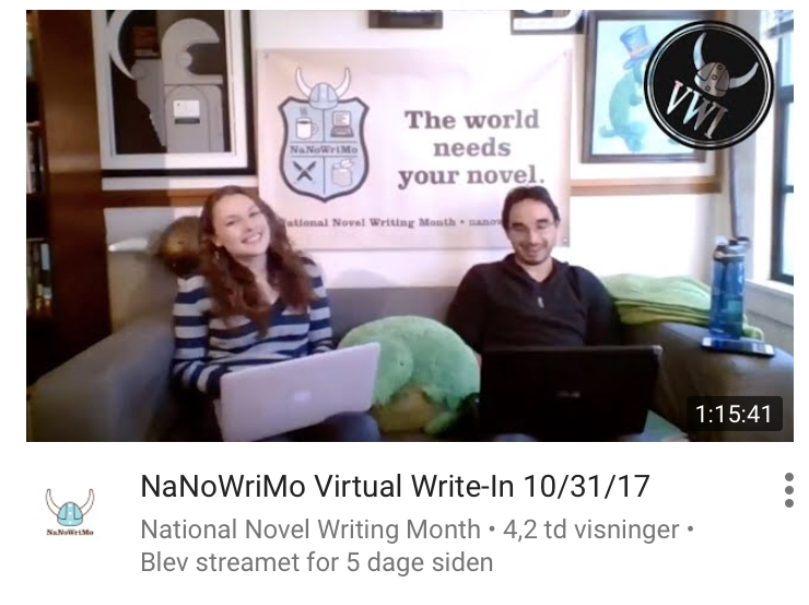 NaNoWriMo virtual write-in