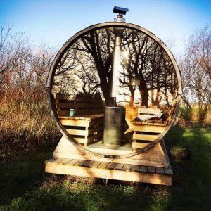 Skriverefugium udendørs sauna
