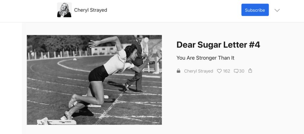 Cheryl Strayed Substack